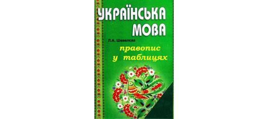 Украинское правописание в таблицах